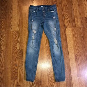 Distressed Old Navy Rockstar Jeans Size 2